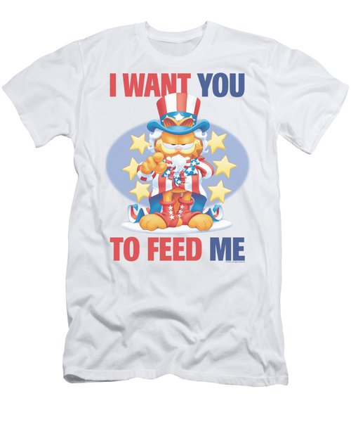 Garfield - I Want You Men's T-Shirt (Athletic Fit)
