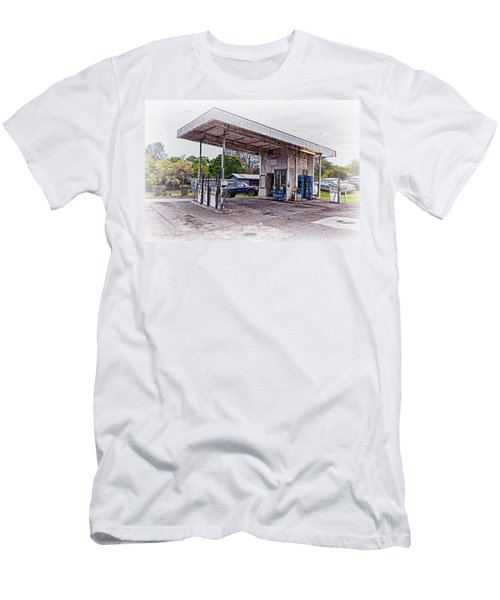 Men's T-Shirt (Slim Fit) featuring the photograph Gasoline Station by Jim Thompson