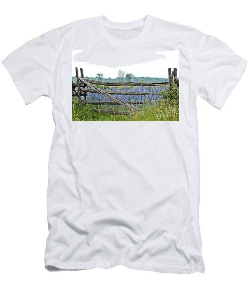 Gate To Blue Men's T-Shirt (Slim Fit) by Cheryl Baxter