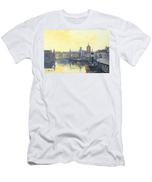 Gdansk Harbour - Poland Men's T-Shirt (Athletic Fit)