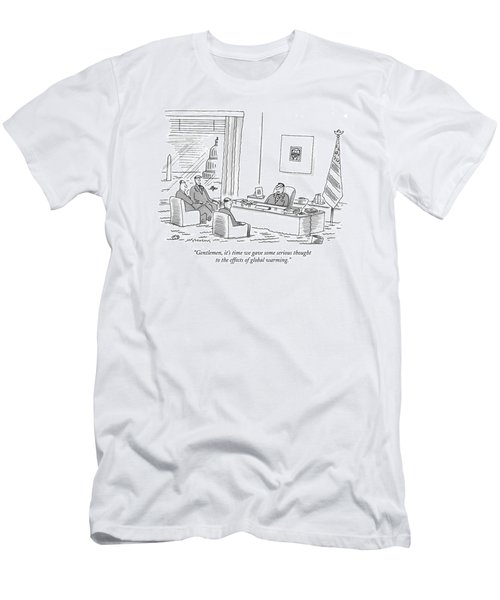Gentlemen, It's Time We Gave Some Serious Thought Men's T-Shirt (Athletic Fit)