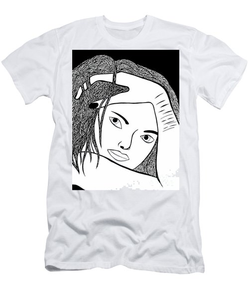 Men's T-Shirt (Slim Fit) featuring the drawing Genuine Scars by Jamie Lynn