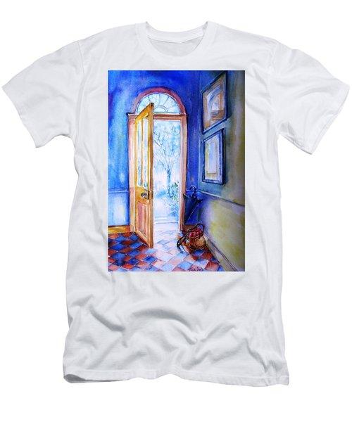 Winter Doorway Ireland    Men's T-Shirt (Slim Fit) by Trudi Doyle