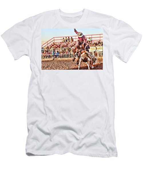 Men's T-Shirt (Slim Fit) featuring the photograph Get Off My Back by Toni Hopper