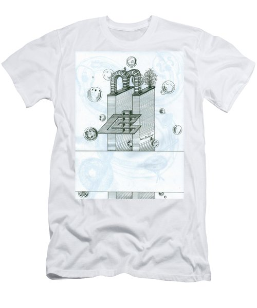 Ghostly Music 1 Men's T-Shirt (Athletic Fit)