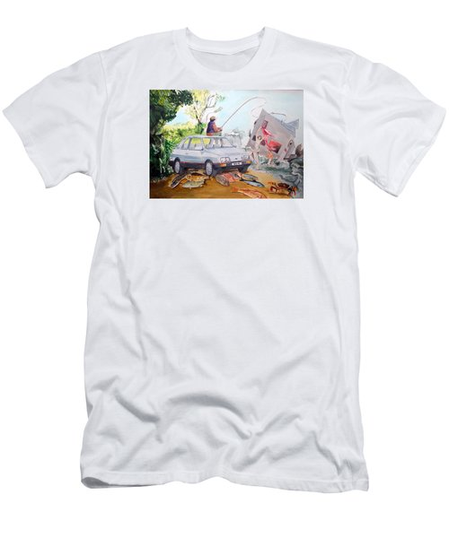 Gift Listen With Music Of The Description Box Men's T-Shirt (Slim Fit) by Lazaro Hurtado