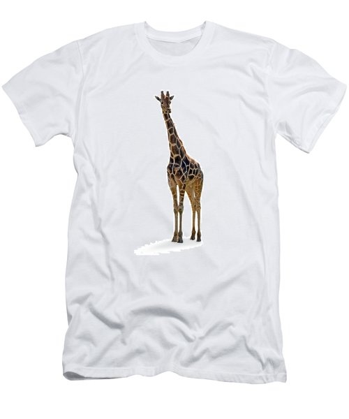 Men's T-Shirt (Slim Fit) featuring the photograph Giraffe by Charles Beeler