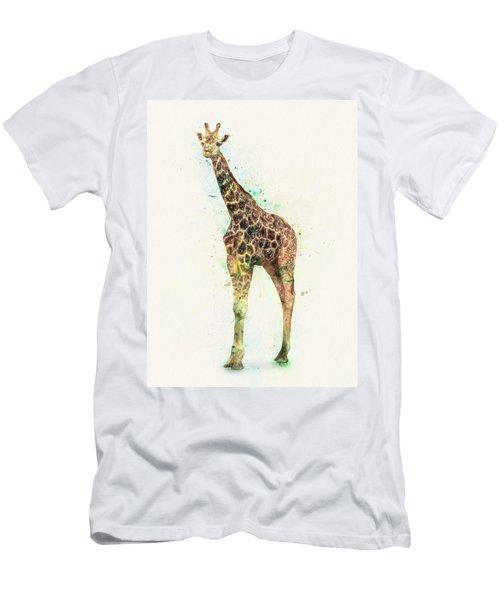 Giraffe Study Men's T-Shirt (Athletic Fit)