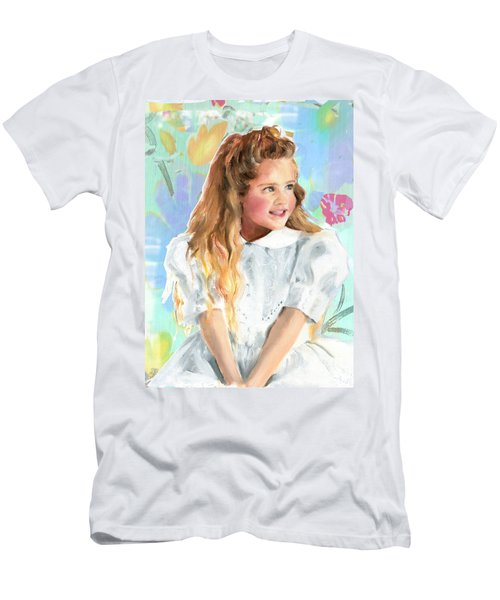 Girl In A White Lace Dress  Men's T-Shirt (Athletic Fit)
