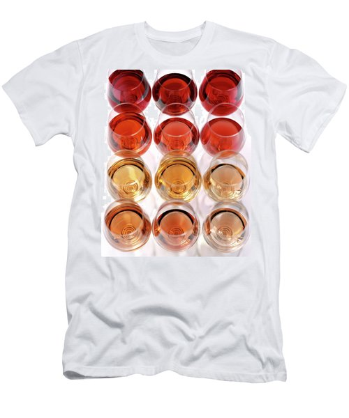 Glasses Of Rose Wine Men's T-Shirt (Athletic Fit)