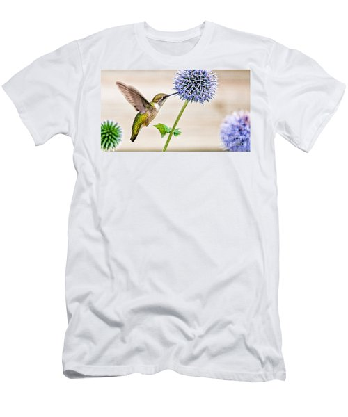 Globe Thistle Hummer Men's T-Shirt (Athletic Fit)