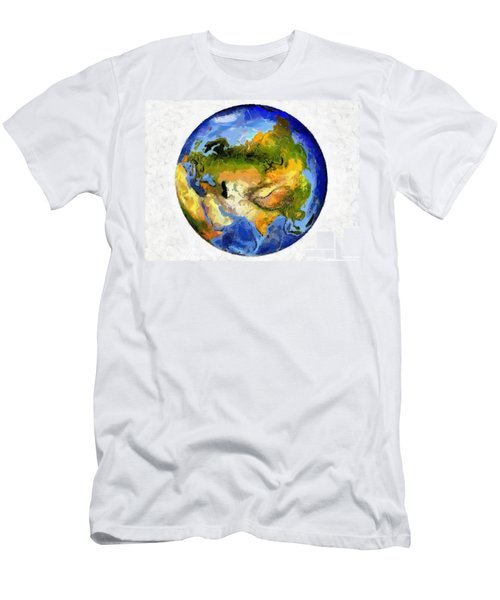 Globe World Map Men's T-Shirt (Athletic Fit)