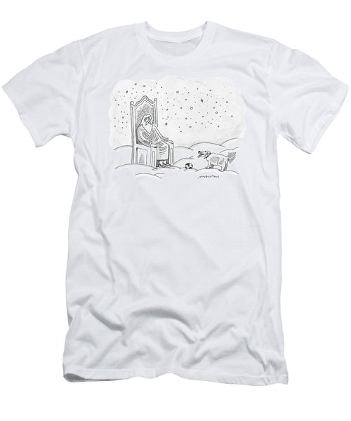 God Sits In His Throne And Plays Fetch Men's T-Shirt (Athletic Fit)