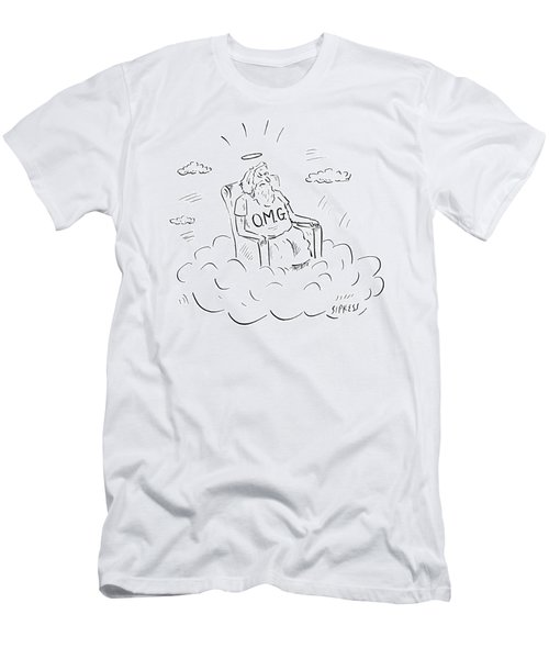 God Sits On A Throne Wearing A Shirt Reading Men's T-Shirt (Athletic Fit)