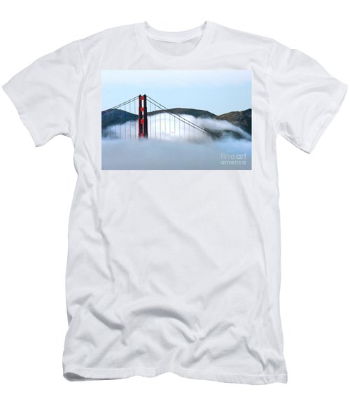 Golden Gate Bridge Clouds Men's T-Shirt (Athletic Fit)