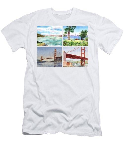 Golden Gate Bridge San Francisco California Men's T-Shirt (Athletic Fit)