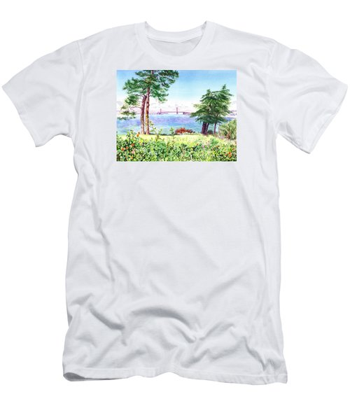 Golden Gate Bridge View From Lincoln Park San Francisco Men's T-Shirt (Athletic Fit)