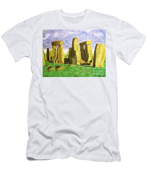 Golden Stonehenge Men's T-Shirt (Athletic Fit)