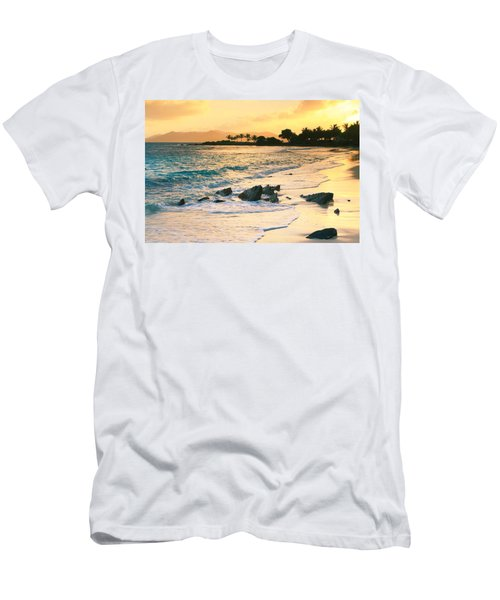 Golden Sunrise On Sapphire Beach Men's T-Shirt (Athletic Fit)