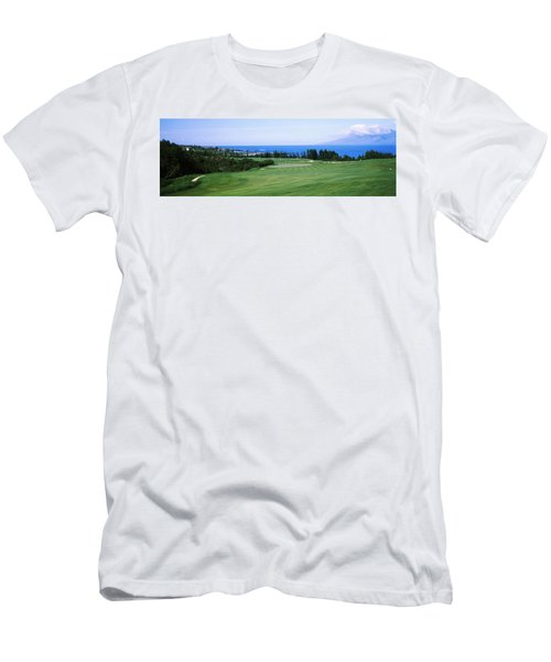 Golf Course At The Oceanside, Kapalua Men's T-Shirt (Athletic Fit)