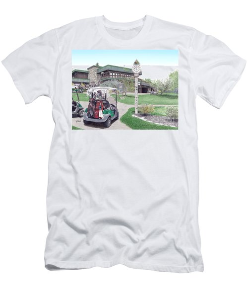 Golf Seven Springs Mountain Resort Men's T-Shirt (Athletic Fit)