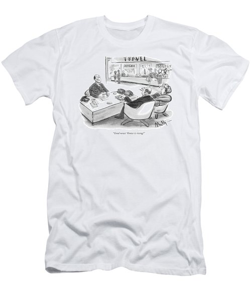 Good News! Venice Is Rising! Men's T-Shirt (Athletic Fit)