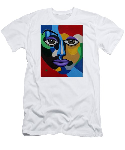 Google Me - Abstract Art Painting - Colorful Abstract Face - Ai P. Nilson Men's T-Shirt (Athletic Fit)