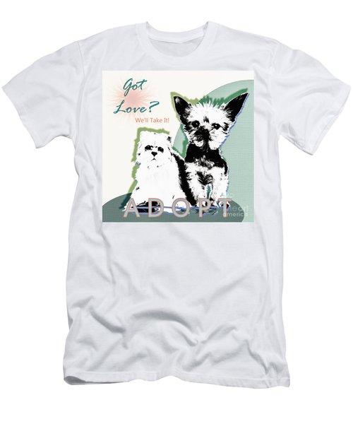Got Love Adopt A Pet Poster Art Men's T-Shirt (Athletic Fit)