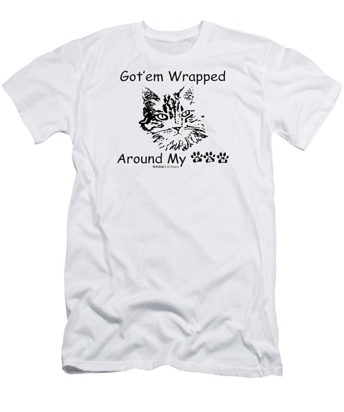 Got'em Wrapped Around My Paw Men's T-Shirt (Athletic Fit)