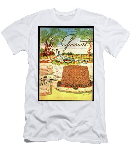 Gourmet Cover Featuring A Buffet Farm Scene Men's T-Shirt (Athletic Fit)