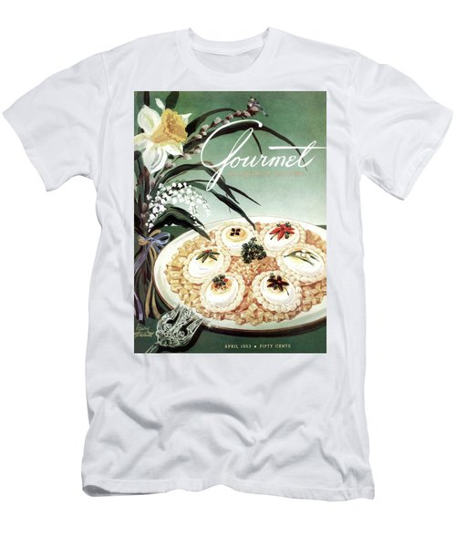 Gourmet Cover Featuring Poached Eggs On Cubed Men's T-Shirt (Athletic Fit)