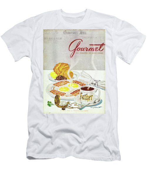Gourmet Cover Of Breakfast Men's T-Shirt (Athletic Fit)