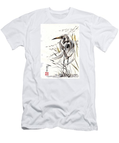 Men's T-Shirt (Slim Fit) featuring the painting Grace Of Solitude by Bill Searle