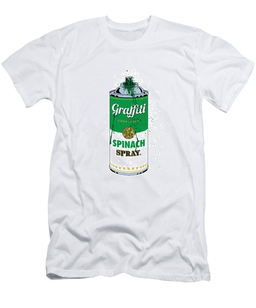 Graffiti Spinach Spray Can Men's T-Shirt (Athletic Fit)