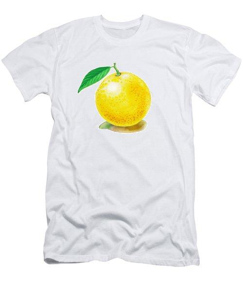 Men's T-Shirt (Slim Fit) featuring the painting Grapefruit by Irina Sztukowski
