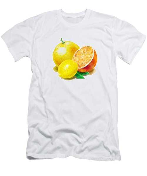 Grapefruit Lemon Orange Men's T-Shirt (Athletic Fit)