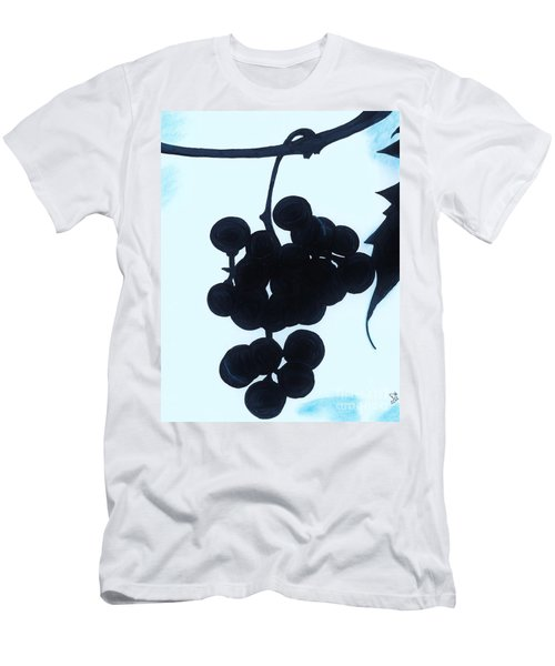 Men's T-Shirt (Slim Fit) featuring the drawing Grapes by D Hackett