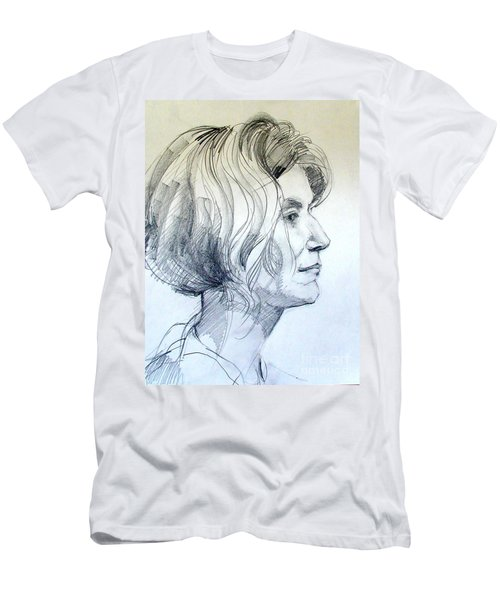Portrait Drawing Of A Woman In Profile Men's T-Shirt (Athletic Fit)