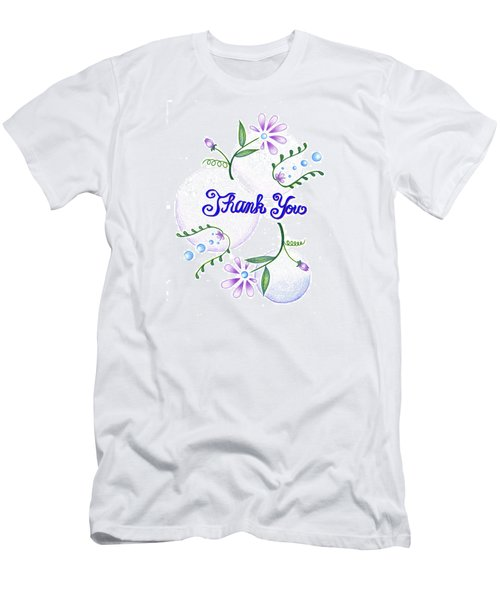 Men's T-Shirt (Slim Fit) featuring the drawing Gratitude by Keiko Katsuta