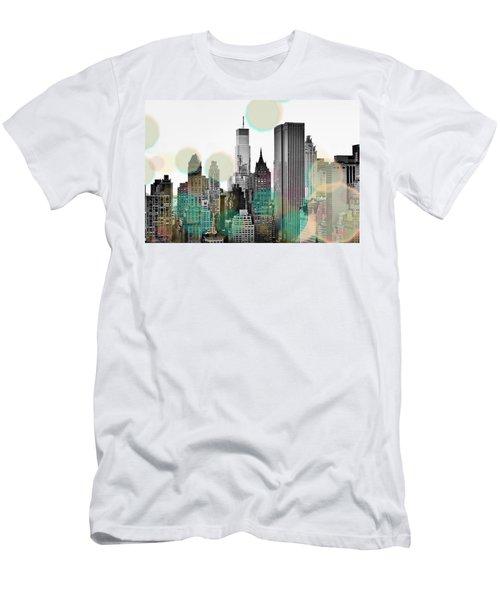 Gray City Beams Men's T-Shirt (Athletic Fit)