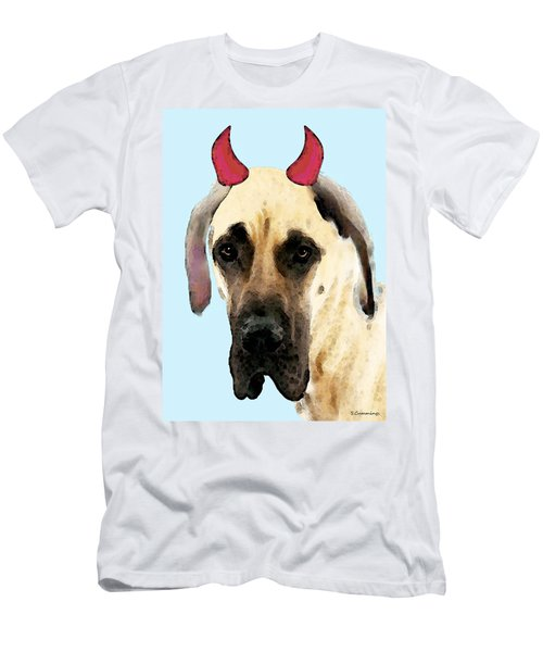 Great Dane Art - Ok Maybe I Did Men's T-Shirt (Athletic Fit)