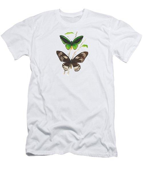 Green Birdwing Butterfly Men's T-Shirt (Athletic Fit)