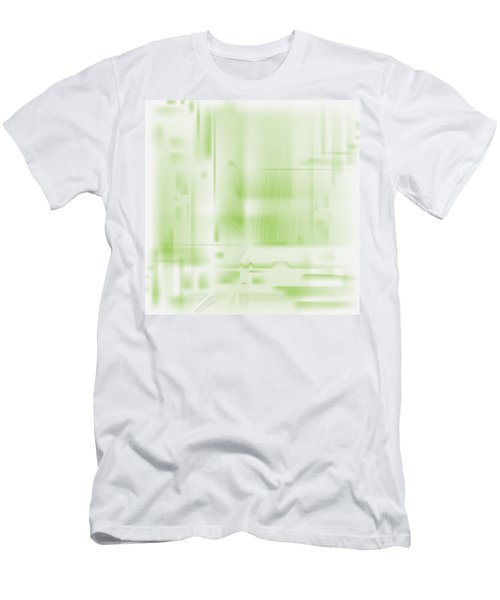 Green Ghost City Men's T-Shirt (Athletic Fit)
