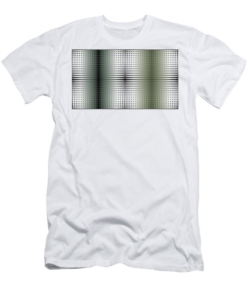 Green/gold Grid Men's T-Shirt (Slim Fit) by Kevin McLaughlin