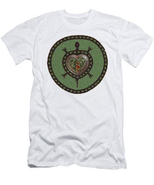 Green Heart Turtle Men's T-Shirt (Athletic Fit)