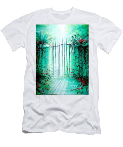 Green Skeleton Gate Men's T-Shirt (Athletic Fit)