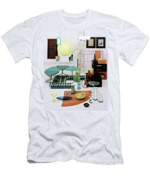 Group Of Furniture And Decorations In 1960 Colors Men's T-Shirt (Athletic Fit)
