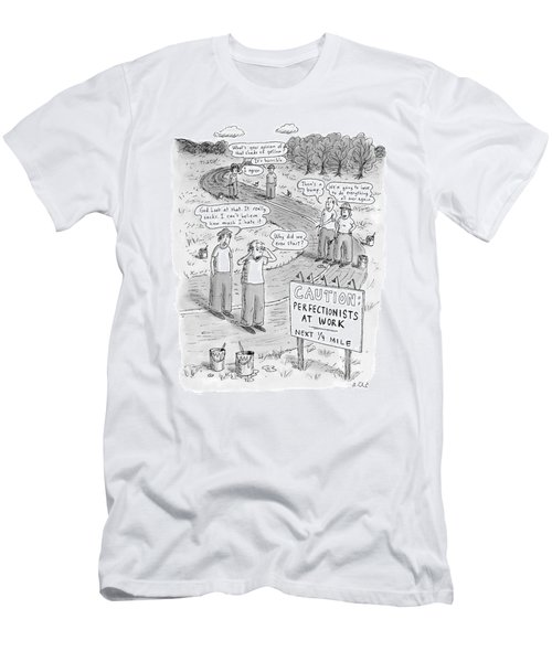 Groups Of Construction Workers Paralyzed Men's T-Shirt (Athletic Fit)