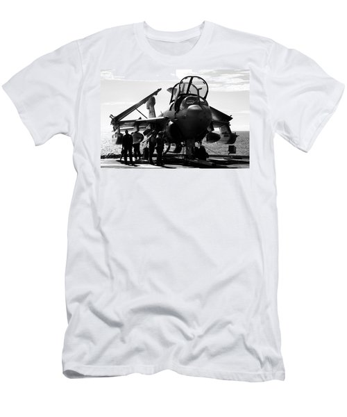 Grumman Ea-6b Prowler B-w Men's T-Shirt (Athletic Fit)