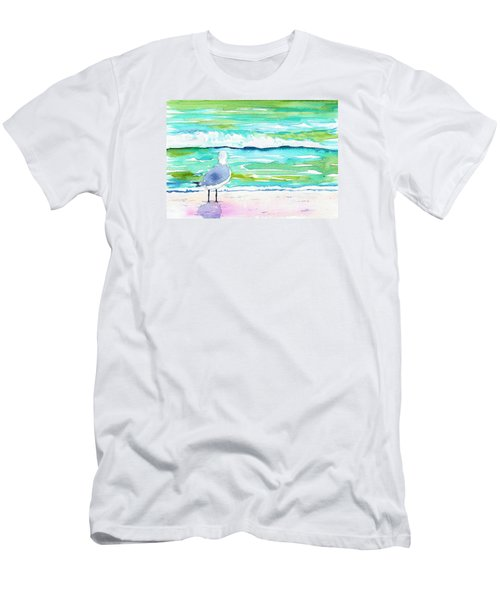 Gull Men's T-Shirt (Slim Fit) by Anne Marie Brown